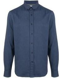 Chemise en jean bleu marine Brunello Cucinelli