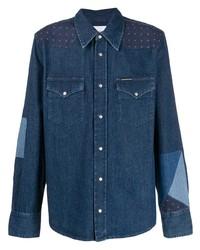 Chemise en jean bleu marine Calvin Klein Jeans