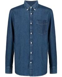Chemise en jean bleu marine Deperlu