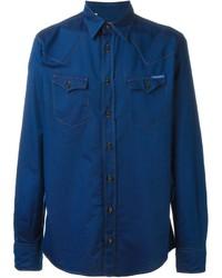 Chemise en jean bleu marine Dolce & Gabbana