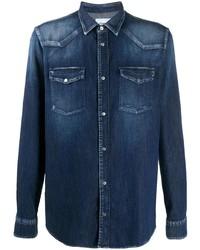 Chemise en jean bleu marine Dondup