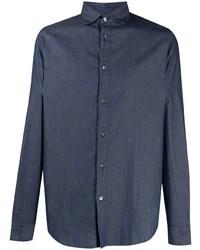 Chemise en jean bleu marine Emporio Armani