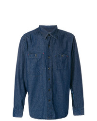 Chemise en jean bleu marine Engineered Garments