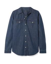 Chemise en jean bleu marine J Brand