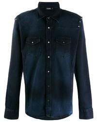 Chemise en jean bleu marine Karl Lagerfeld