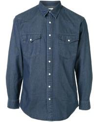 Chemise en jean bleu marine Kent & Curwen