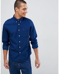 Chemise en jean bleue marine Lee