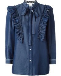 Chemise en jean bleu marine Marc Jacobs