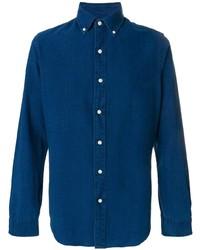 Chemise en jean bleu marine Ralph Lauren