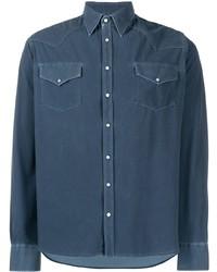Chemise en jean bleu marine Rrd