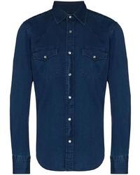 Chemise en jean bleu marine Tom Ford