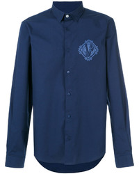 Chemise en jean bleu marine Versace