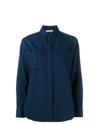Chemise en jean bleu marine Vince