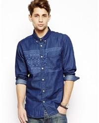 Chemise en jean bleu marine Voi Jeans