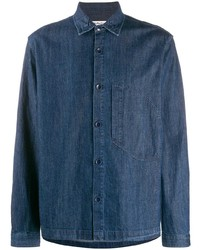 Chemise en jean bleu marine YMC
