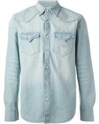 Chemise en jean bleue claire original 2930811