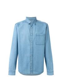 Chemise en jean bleue claire AMI Alexandre Mattiussi