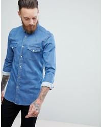 Chemise en jean bleue claire ASOS DESIGN