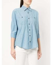 Chemise en jean bleue claire R13