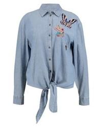 Chemise en jean bleue claire Esprit