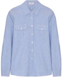 Chemise en jean bleue claire Frame