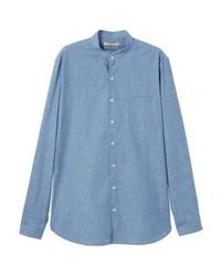 Chemise en jean bleue claire Mango