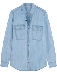 Chemise en jean bleue claire MICHAEL Michael Kors