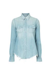 Chemise en jean bleue claire Mother