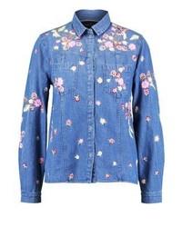 Chemise en jean bleue claire Needle & Thread