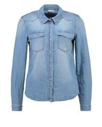 Chemise en jean bleue claire Noisy May