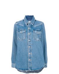 Chemise en jean bleue claire Off-White