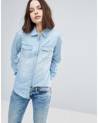 Chemise en jean bleue claire Only