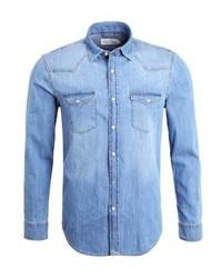 Chemise en jean bleue claire Pier One