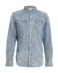 Chemise en jean bleue claire Ralph Lauren