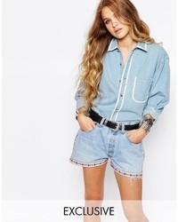 Chemise en jean bleue claire Reclaimed Vintage