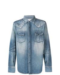 Chemise en jean bleue claire Saint Laurent