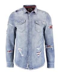 Chemise en jean bleue claire Tommy Hilfiger