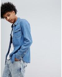 Chemise en jean bleue claire Tommy Jeans