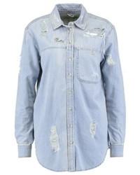 Chemise en jean bleue claire Topshop
