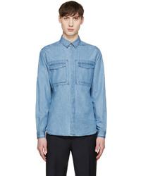 Chemise en jean bleue claire Valentino