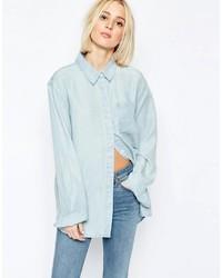Chemise en jean bleue claire Weekday