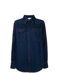 Chemise en jean bleue marine Calvin Klein Jeans Est. 1978