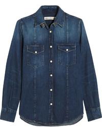 Chemise en jean bleue marine Golden Goose Deluxe Brand