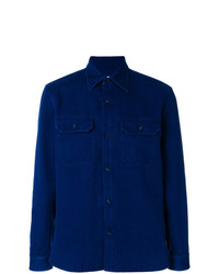 Chemise en jean bleue marine Maison Margiela
