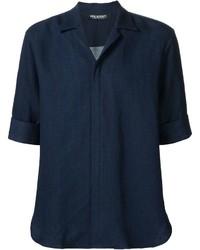 Chemise en jean bleue marine Neil Barrett