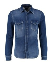 Chemise en jean bleue marine Pepe Jeans