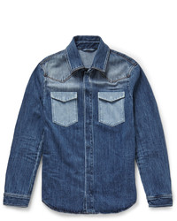 Chemise en jean bleue marine Valentino