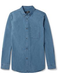 Chemise en jean bleue A.P.C.
