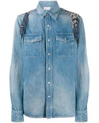 Chemise en jean bleue Alexander McQueen