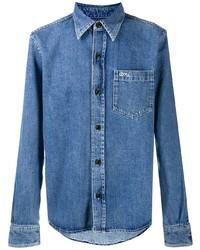 Chemise en jean bleue Ami Paris
